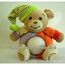 Sombrero llevando los juguetes del oso Juguetes de la luz de la noche de la felpa