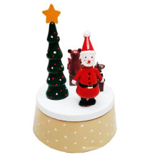 FQ marque en gros main manivelle personnalisé Noël en bois boîte à musique