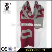 Fils épais tricoté chaleureux design simple écharpe de football en acrylique fan de foot service OEM mannequin cadeau de Noël