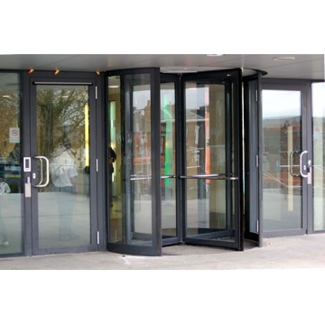 Three-wing Revolving Doors with Laminated Door Wings