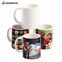 FREESUB Sublimation Heat Press Printing Ceramic White Mug