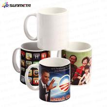 Diretamente Fábrica Populares vendendo barato 11oz sublimação cerâmica canecas brancas copos