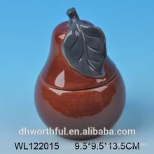 Récipients de stockage de produits en céramique de haute qualité à la conception des poires
