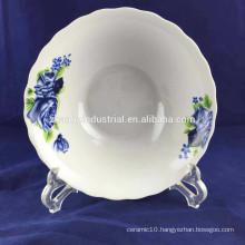 Ceramic flower shape porcelain soup bowl