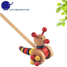 Lovely Wooden Push Caterpillar Toy