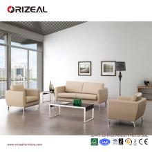 Petit canapé en cuir de divan de meubles de bureau d'Orizeal (OZ-OSF009)