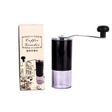 cylinder plastic container hand manual coffee bean ceramic adjustable grinder