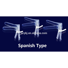 disposable small medium large size plastic vaginal speculum with light source ABS