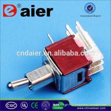 SMTS-202-2C4 2 Pôles 4 Pin Long Mini Interrupteur à Bascule