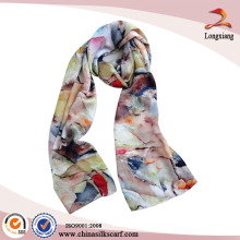 Hot Sale Satin Silk Digital Printed Summer Scarf