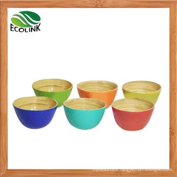 Popular Colorful Bamboo Salad Bowl / Rice Bowl / Serving Bowl