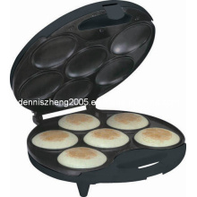 6-Portions Arepa Maker-Electric Non Stick Surface 6 Portion - Make Professional Arepas & Empanadas