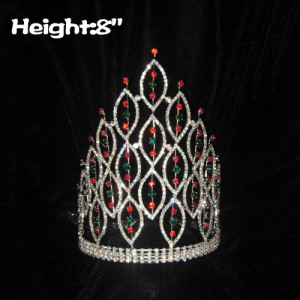 Atacado 8inch Height Pageant Spike Christmas Crowns