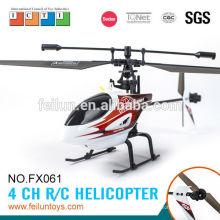 Fácil de volar material PP/Nylon durable 2.4G 4 canales solo propulsor helicóptero barato rc helicóptero chenghai CE/ROHS/FCC/ASTM