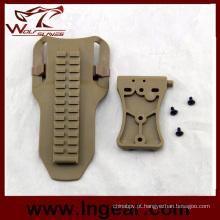 Comum ajustar o painel inferior de coldre de arma da cintura para pistola coldre
