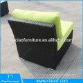 Sofá central de vime de rattan com almofada