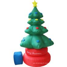 Spinning d'arbre de Noël gonflable animé pour la décoration
