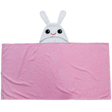 Cute Children's Beach Toalhas Pink Bunny