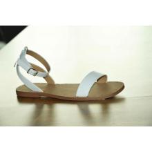 Senhoras verão nova moda fivela de cinto sandálias respiráveis