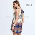 New Chiffon Halter Frock Designs Summer Beach Short-length Mini Dress Women Fancy Dress