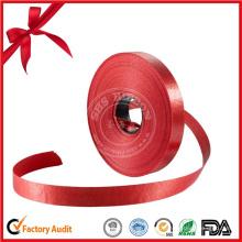 Rolo de fita vermelha por atacado personalizado para presente decorativo
