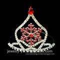 Wholesale red crystal snowflake christmas pageant crowns