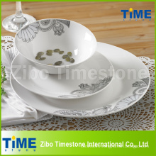 12PCS Fine Decal Porcelain Dinner Set