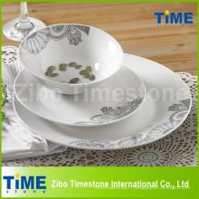 12pcs ensemble de dîner en porcelaine fine Decal porcelaine