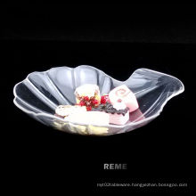 Plastic Disk Disposable Saucer Cowry Shaped Dish