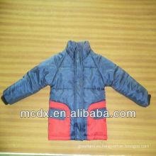 Doble color de costura niño chaqueta de invierno chaqueta de niño