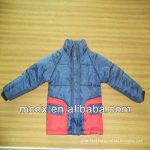 Double color stitching child winter jacket child jacket