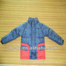Двойной цвет сшивание ребенок куртка ребенок куртка