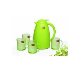 Зеленое яблоко Цвет стекла Кувшин Установить Кухонная посуда Kb-Jh06171