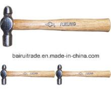 Martelo de bola com cabo de madeira