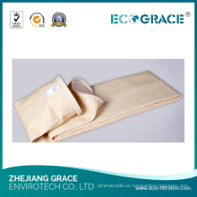 Calcetín de filtro de polvo de tela de excelente estabilidad térmica Nomex