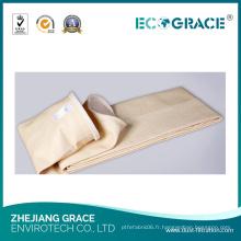Nomex Excellente chaussette de filtre à poussière de tissu de stabilité thermique