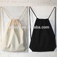 Saco de mochila com cordão personalizado, mochila de algodão