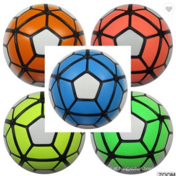 Bola de futebol ligada térmica do fósforo barato feito sob encomenda de couro por atacado no treinamento maioria do tamanho 5
