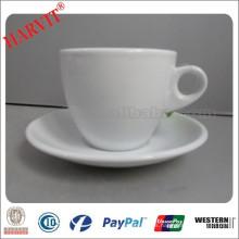 Nuevos productos calientes para 2015 90cc café italiano y Macchiato tazas de café con logotipo personalizado / taza de porcelana y platillo
