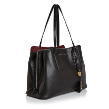 Double Handles Editor Ladies Leather Bag