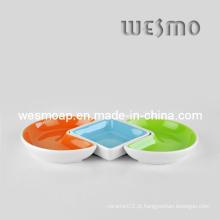 Prato de petisco de bandeja de comida (WSC0135A)