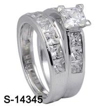 925 Sterling Silber Hochzeit Ring Modeschmuck (S-14345. JPG, S-14345Y JPG)