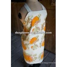 Avental floral de algodão para mulher