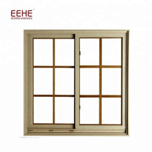 Brown Color Guangzhou Aluminum Slide Windows Designs