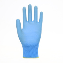 Polyester Liner with PU Coated Safety Gloves