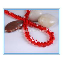 Tipos de perlas de cristal de platillo volante cuentas de siam bicone
