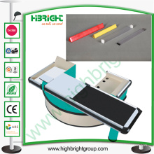 Plastic Lane Divider para Cash Table Desk