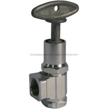 IPS Connection Chromed Brass Angle Stop Valve with Loose Key (J13K)