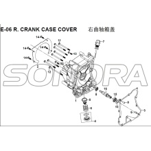 E-06 R. CRANK CASE COVER para XS125T-16A Violino III Spare Part Top Quality
