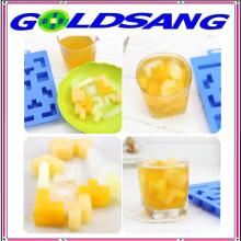 Square Shape Sliding Blocks Shape Silicone Ice Tray Ice Mould